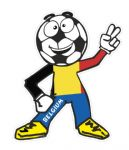 Novelty FOOTBALL HEAD MAN With Belgium Flag Motif For Football Soccer Team Supporter Vinyl Car Sticker 100x85mm